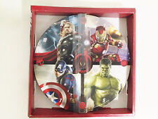 "Marvel Avengers Age of Ultron 11"" inch AA Battery Operated Wood Wall Clock"