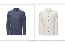 JACK JONES Button Down Long Sleeve Cotton Men's Casual Shirts & Tops
