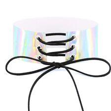 Fashion Holographic Choker Gothic Punk Laser Choker Collar Necklace
