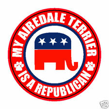 "My Canaan Dog Is A Republican Dog 5"" Sticker Decal"