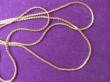 22ct GOLD CLAD SOLDERED LINK NECK CHAIN No19, Choose length or we send 50cm