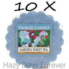 10 YANKEE CANDLE WAX TARTS Garden Sweet Pea Floral Tartlets Melts Flowers blue