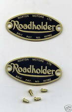 Norton Roadholder Fork Badges - Pair