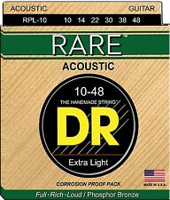 DR Strings Rare RPL-10 10-48 Cordes guitare folk acoustique