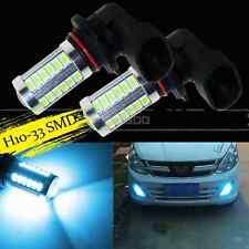 2X H10 ICE Blue 33SMD 9145 Projector LED Lens Bulbs For Car Driving Fog Lights