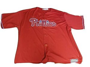 NWT Reese Hoskins Philadelphia Phillies Jersey Sz 4 XL T Majestic Red