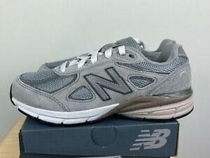 NEW New Balance 990 Kids Sz 2 Gray Boys KJ990GLP