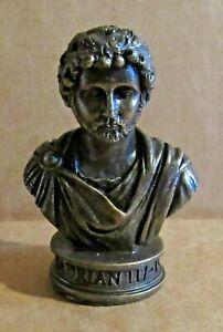 ORNAMENT HADRIAN RESIN BRONZED BUST EMPEROR OF ROMAN EMPIRE