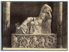 Italie, Roma, Vaticano, Ariadne Vintage albumen print.  Tirage albuminé  10x