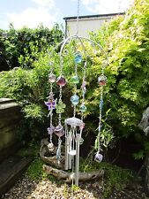 Fair Trade Hand Made Metal Fairy Flower Wind Chime Windchime Hanging Mobile