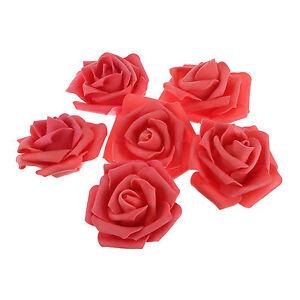 400PCS Artificial Foam Rose PE Floral Flowers Head Bridal Bouquet Wedding Decor