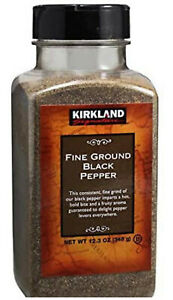Kirkland Signature Fine Ground Black Pepper 12.3oz Exp:08/2023
