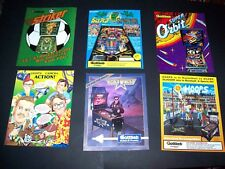 Lot (6) ORIGINAL GOTTLIEB 1980s - 1990s Arcade PINBALL MACHINE Flyers set #46