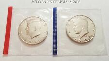 1990 P & D Kennedy Half Dollar Set (2 Coins) *MINT CELLO*  **FREE SHIPPING**