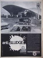PUBLICITÉ PRESSE 1961 ANTI SLUDGE BIDON CALTEX 5 STAR CITROEN AMI 6 -ADVERTISING