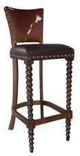 Cowhide Counter Stool + Cowhide Chair + Brass Nails $350 Cowhide