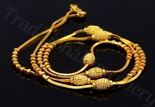 22K GOLD SNAKE CHAIN WITH FABULOUS DIAMOND CUT GOLD BALL UNISEX NECKLACE CHAIN