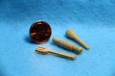 Dollhouse Miniature Wood Untensil Set of 3 ~ IM65117