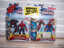 Marvel Ultimate SPIDER-MAN  2-Pack Web Wingsuit SPIDER-MAN & Crossbow Chaos