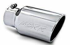 "MBRP 12"" Stainless Steel Exhaust Tip Rolled Angled End 4"" Inlet 6"" Outlet T5073"