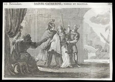 santino incisione 1800* S.CATERINA V.M. DI ALESSANDRIA