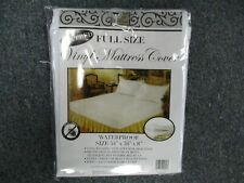 FULL SIZE VINYL ZIPPERED MATTRESS COVER WATERPROOF ALLERGY & BED BUG PROTECTOR