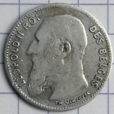 BELGIQUE 50 centimes Wiener LEOPOLD II ARGENT 1907 FR Silver coin AG 2
