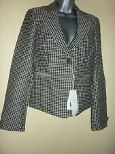 Houndstooth tailored jacket by Armani Collezioni in size IT40 UK 8 BNWT