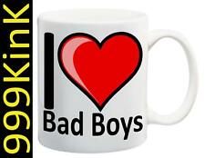 2794 I Love Heart BAD BOYS cup mug SECRET santa christmas Sex gift toy fetish