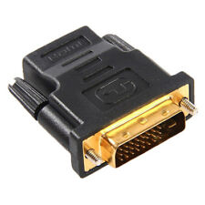 DVI-D (24+1) 25 Pin Male To HDMI Female Adapter Connector Converter Gold Color