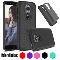 For Motorola Moto G6/ G6 Play/Plus/Forge Shockproof Hybrid Armor Hard case cover