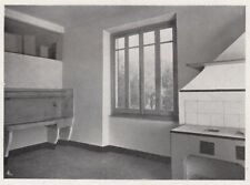 D4630 Genova - Particolare cucina di casa popolare - Stampa d'epoca - 1935 print