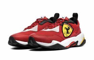 NIB Men's PUMA Size 9 Ferrari Thunder Sneakers Red 339869-02