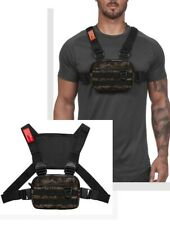 Reflective Tactical Chest Rig Bag Nylon Pouch Outdoor Sport Leisure Hiking Pouch