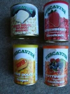 2 x Tins of Pescaviva Sweetcorn various flavours and Colours