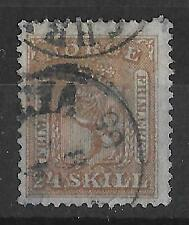 NORWAY 1863 24skill brown sound fine used CDS - 13489