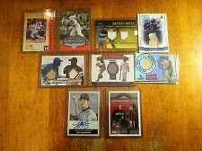Random lot of baseball cards game worn auto Home Base card 9 cards Total L@K!