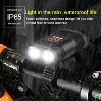 USB Dual LED T6 Rechargeable Bike Headlight LED Bicycle Front Head Light Cycling