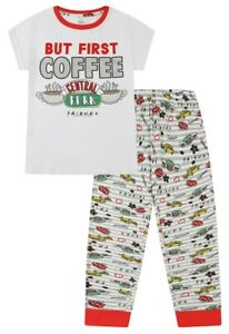 Ladies Friends But First Coffee Pyjamas for Women Central Perk Cafe TV Show