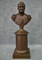 Antique Napoleonic Bronze Sculpture Busts Napoleon Bonaparte to sword colectors