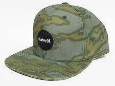 HURLEY KRUSH SNAPBACK Hat Grey Green OSFA ($30) NEW Skate Camo Ski CAP TROPIC