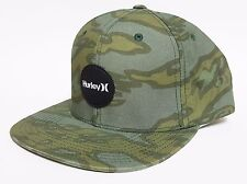 HURLEY KRUSH SNAPBACK Hat Grey Green OSFA ($30) NEW Skate Camo Ski CAP TROPIC