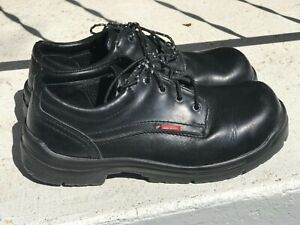 Red Wing Mens Work Shoes Black Leather Lace Ups Size 11