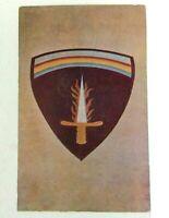 Abilene Kansas Eisenhower Museum Shaef Emblem Postcard