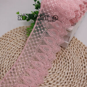 1 Yard, Embroidered Net Lace Trims Ribbon For Dress Sewing Handicrafts DIY 6L33