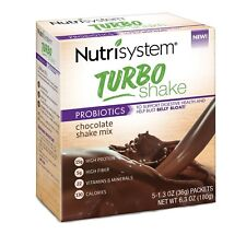 Nutrisystem 5 TURBO Shakes CHOCOLATE Mix Bust Belly Bloat Digestive Health Diet