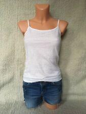Ann Christine Trägertop Shirt Tunika Top Weiß mit Spitze Gr. XS Top Zustand
