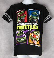 Teenage Mutant Ninja Turtles Boys T-Shirt Black New 5/6 7 8 10/12 14 Nickelodeon