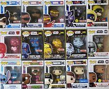 FUNKO POP! Star Wars Marvel Disney Flocked Exclusive New Choose Pop!