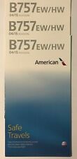 American Airlines 757 Safety Cards (Set of 3)